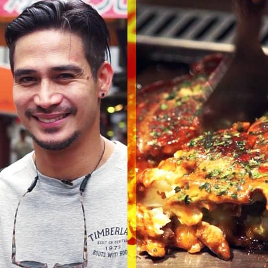 Piolo Pascual Tries Four Different Okonomiyaki In Japan For The Crawl Osaka