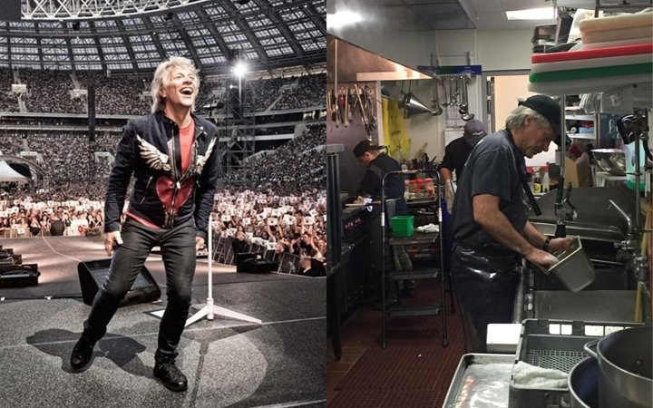Look! Jon Bon Jovi Washed Dishes At A Charity Restaurant Catering To Those Affected By COVID-19