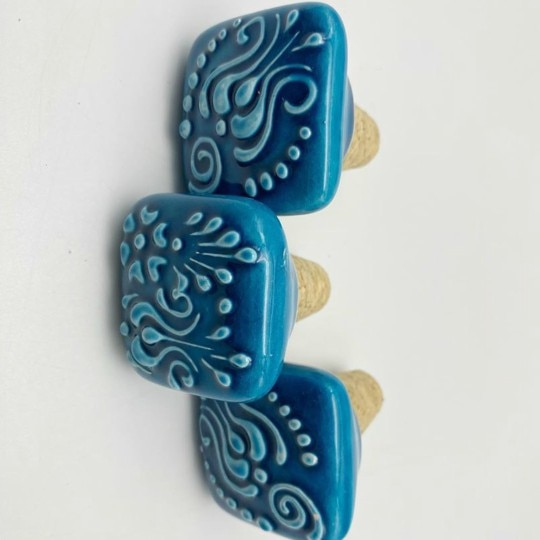 Object of the Week: Handpainted Ceramic Wine Bottle Stoppers