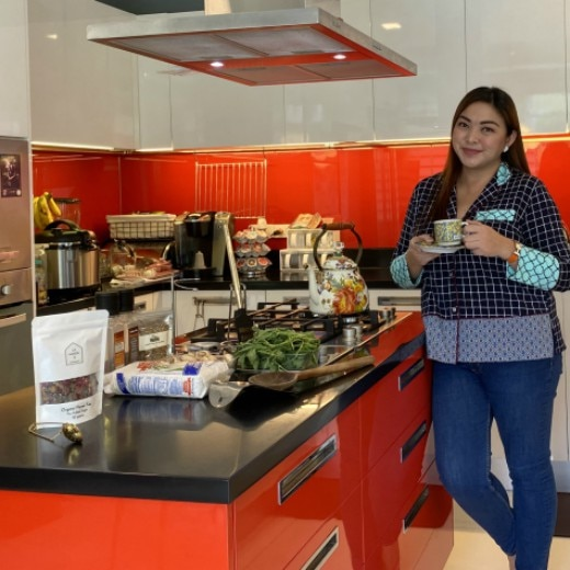 WATCH:  Charisse Tinio Gives A Tour of Her Dynamic, Red Kitchen