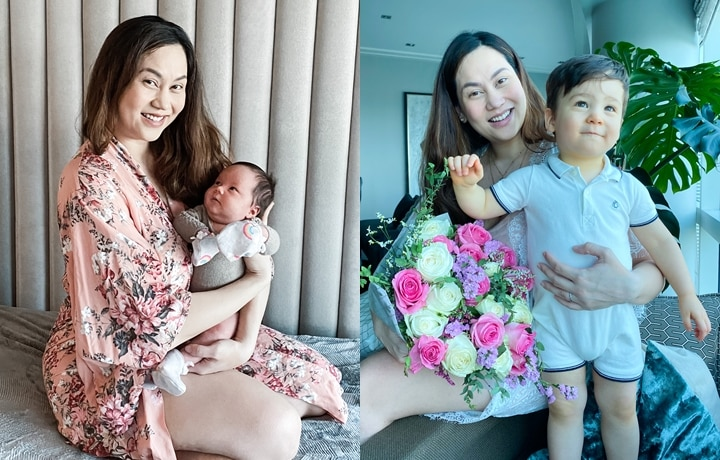 EXCLUSIVE: Cristalle Belo-Pitt Opens Up About Being A Mom Of Two