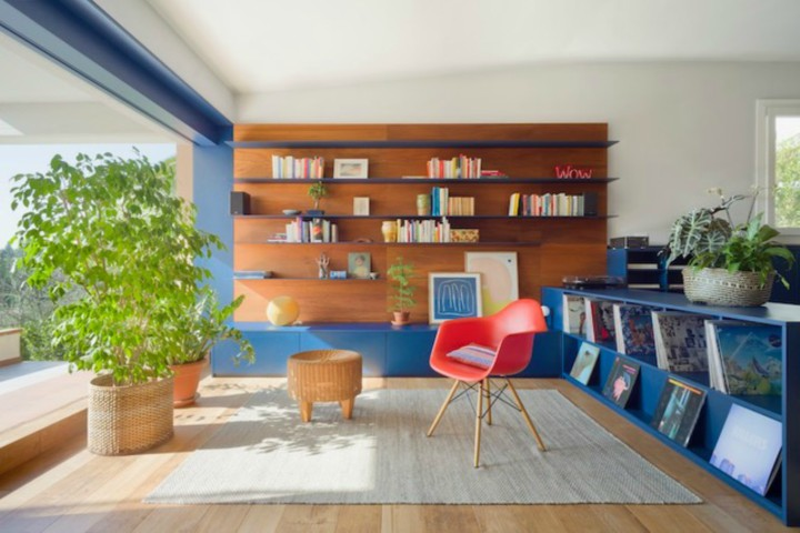 This Apartment For A Young Italian Couple Proves That The Color Blue Is Fluid
