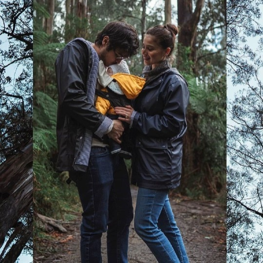 Look! Anne Curtis And Erwan Heussaff Take Their Daughter Out On A Scenic Walk In The Woods