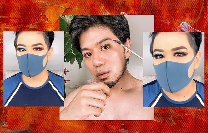How To Wear Dramatic Eye Makeup Under Your Face Mask, According To Albert Kurniawan