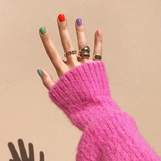 Trend Watch: Instagram's Favorite Rainbow Nail Trend Isn't Going Anywhere Anytime Soon