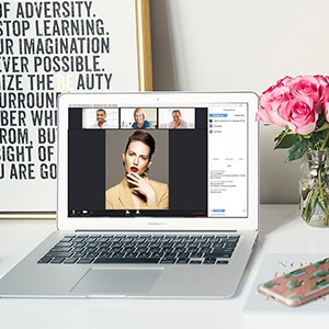 How To Look Your Virtual Best During Web Meetings, According To Pro Makeup Artists