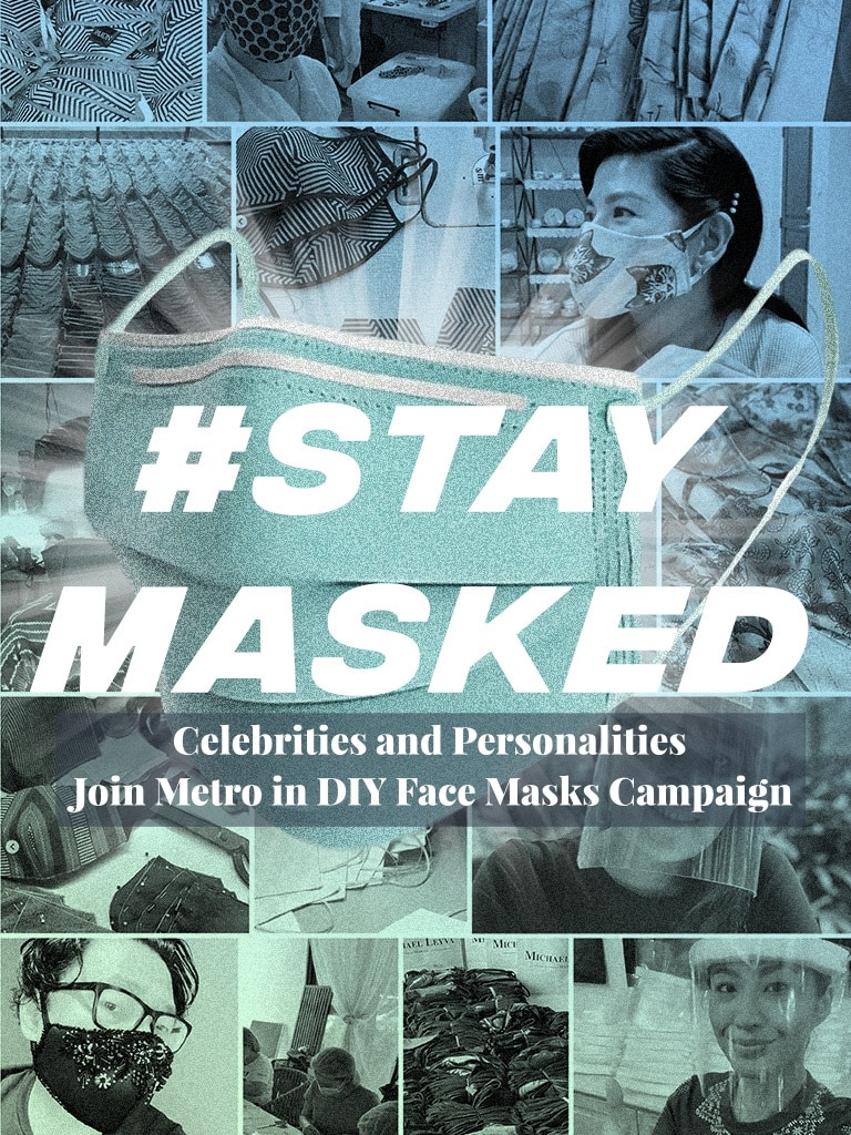 Celebrities and Personalities Join Metro in DIY Face Masks Campaign