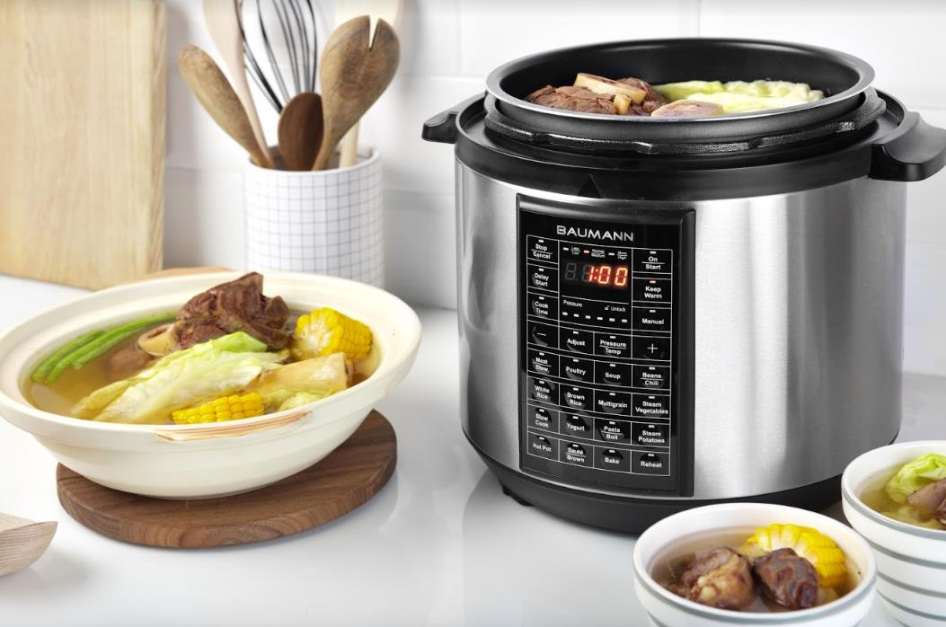 Electric pressure cooker from Baumann Living, Php 5,495