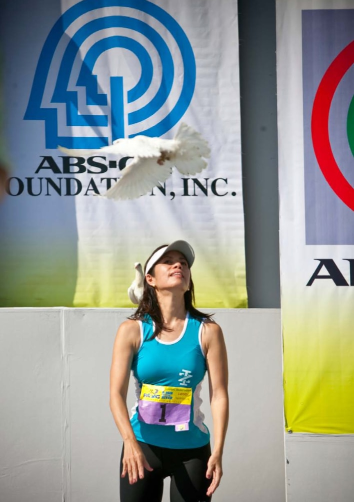 Gina Lopez at the 2009 Pasig River Run
