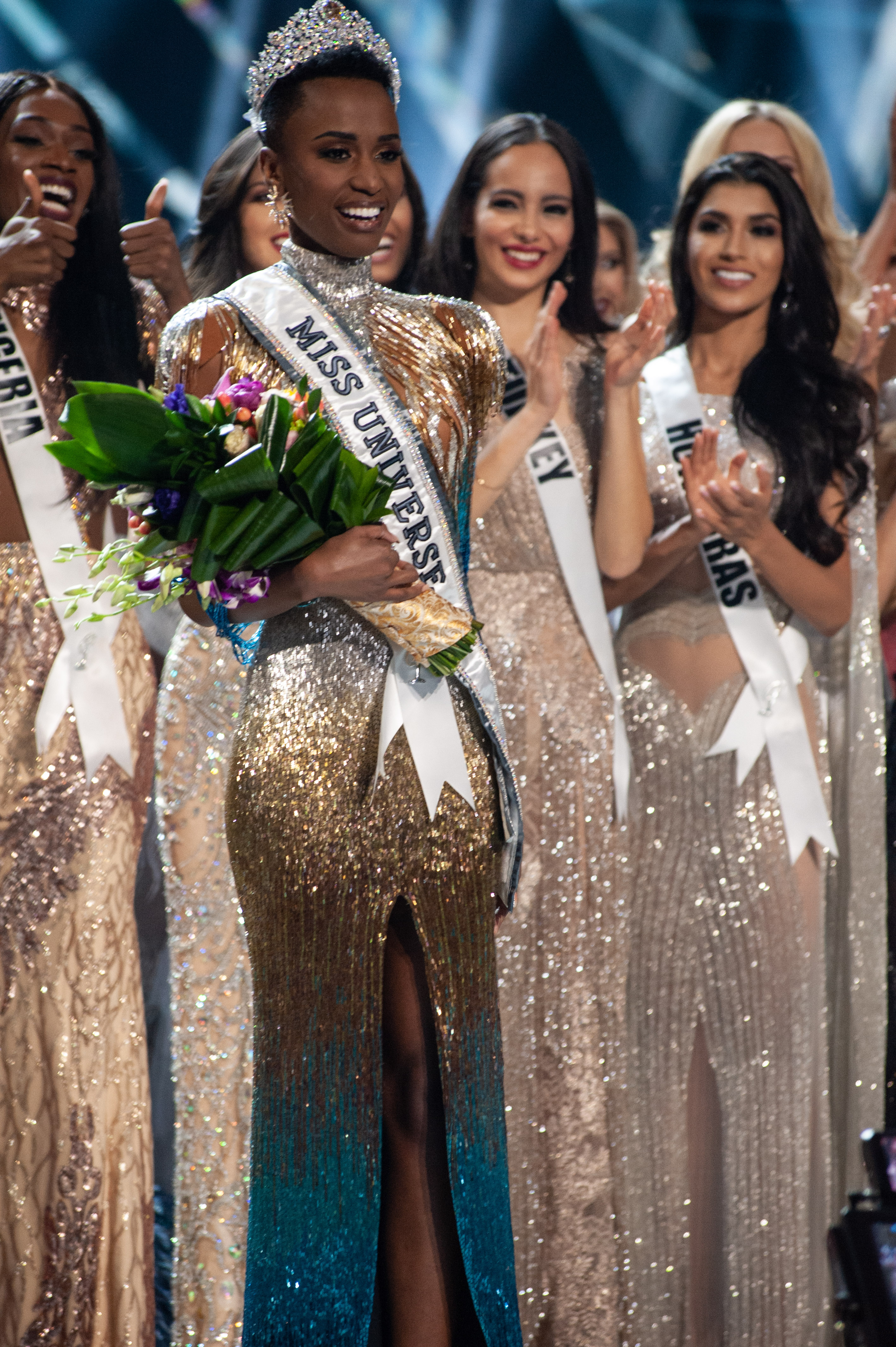 The crowning moment of the new Miss Universe 2019 Zozibini Tunzi.
