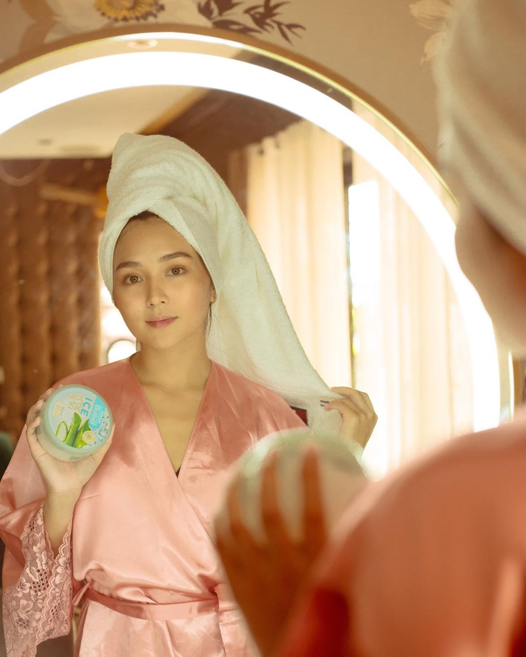 Kathryn considers Jeju Aloe Ice an important part of her self-care routine