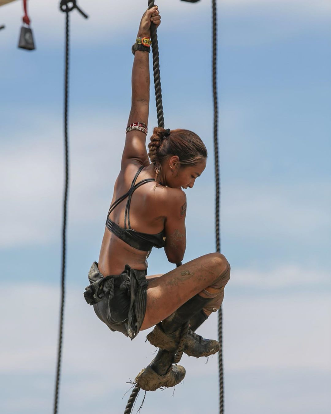 Rocking a Spartan race like the fitness queen she is