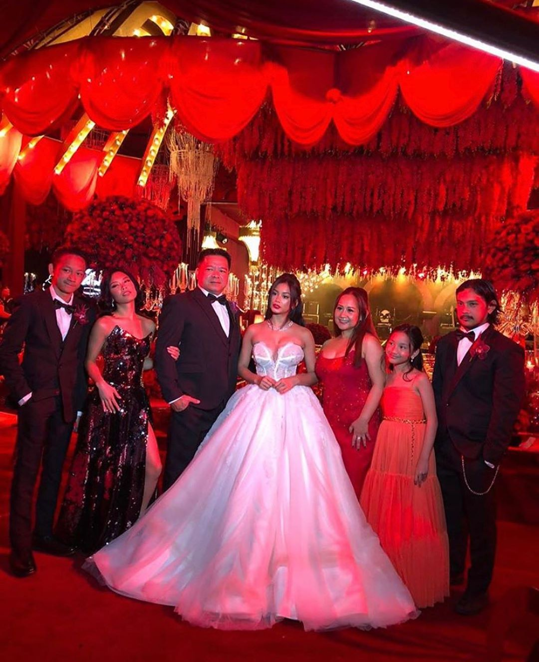 Ylona's family were all in attendance during her 18th birthday party.