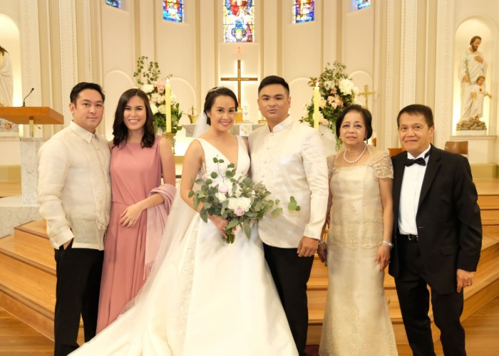 Michelle Barrera and Santi Juban's real wedding