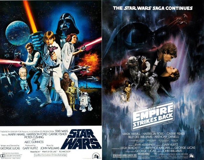 Posters for A New Hope and Empire Strikes Back
