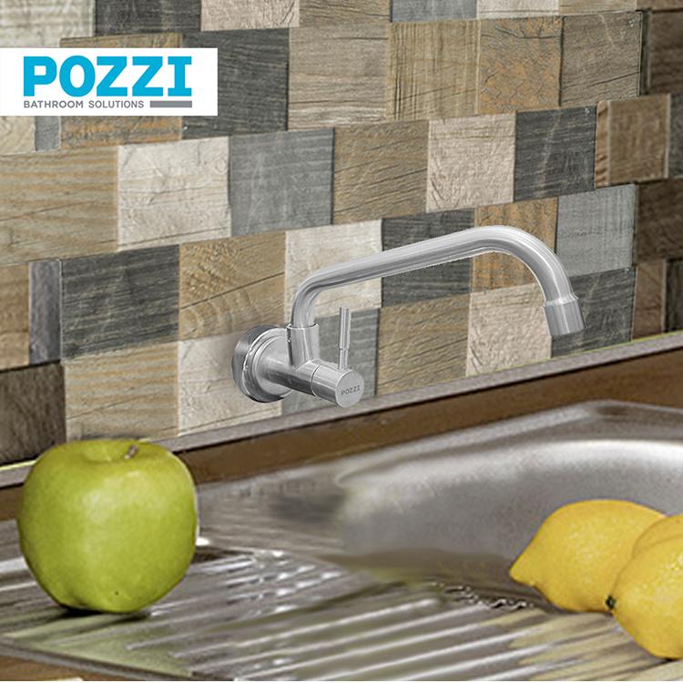 Pozzi plumbing fittings come in sleek, modern designs.