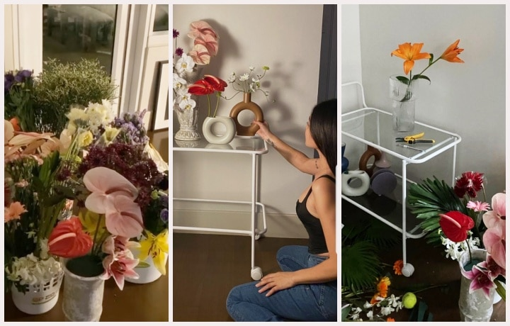 Nadine Lustre's Flower Arrangement at home