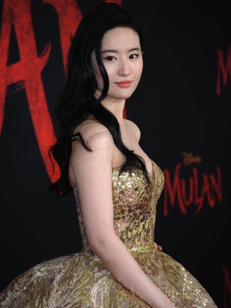 liu yifei at the mulan premiere 0