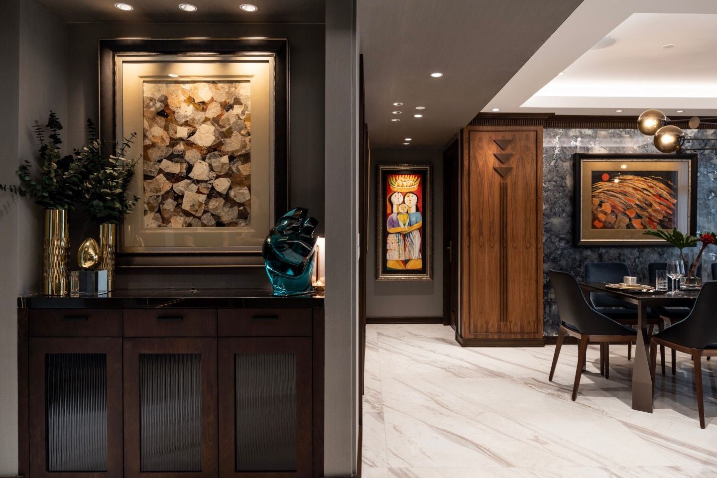 In this art deco-inspired condo, Jigs Adefuin incorporates select works of art by Filipino masters.