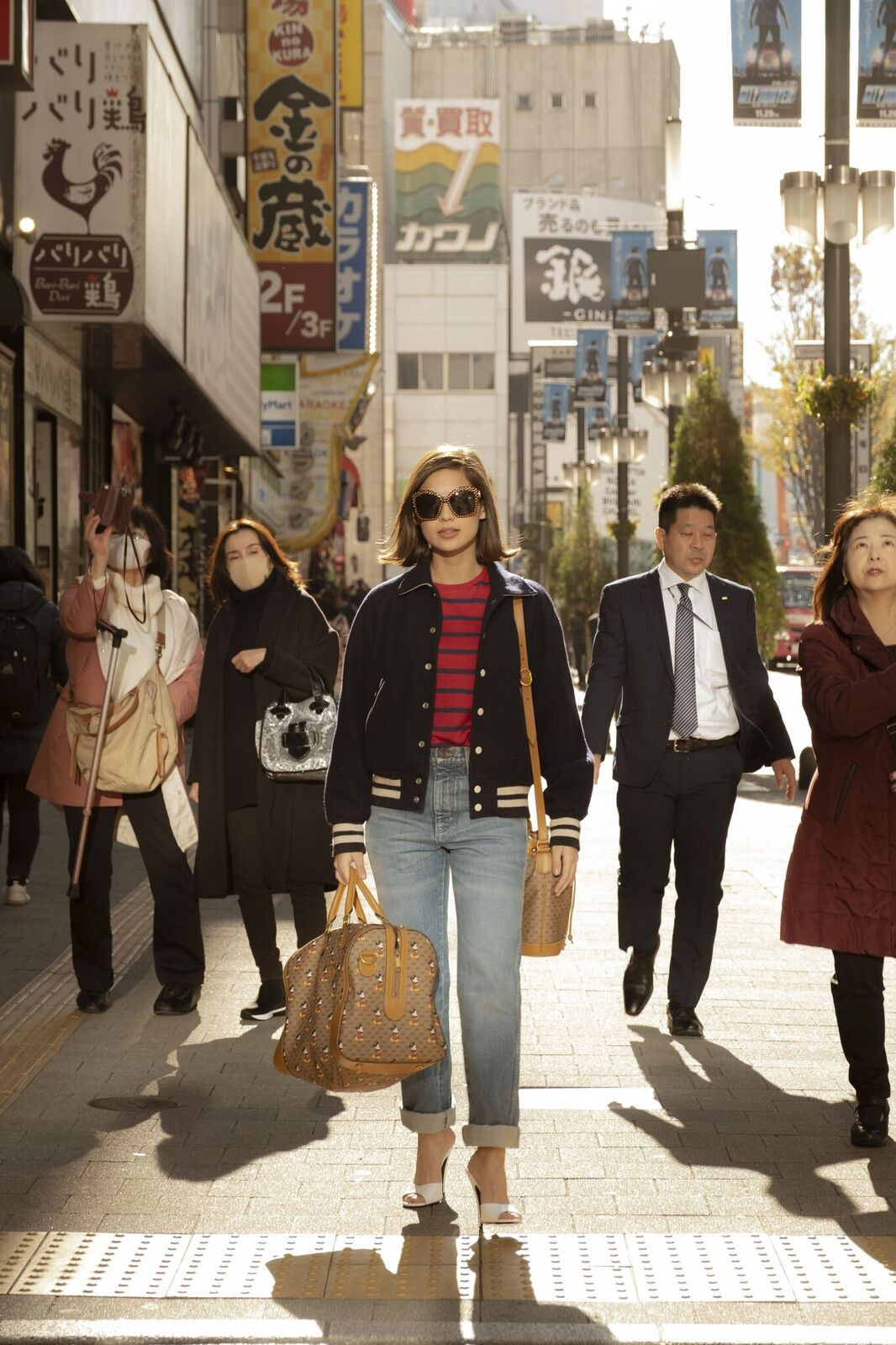 Jasmine Curtis on the streets of Tokyo for Gucci's Lunar New Year Collection