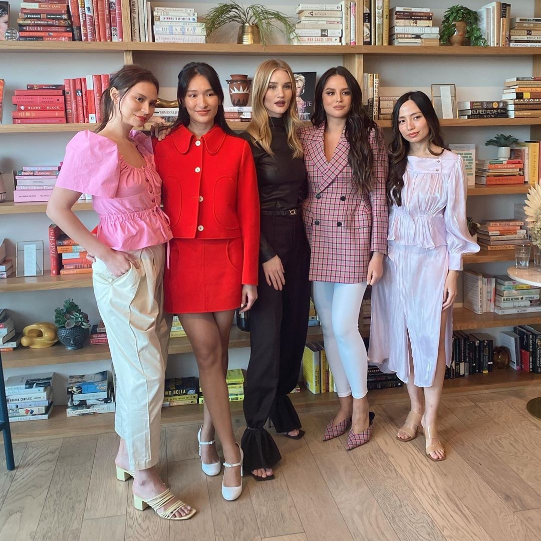 Rosie Huntington-Whiteley together with the Sunnies Face girl bosses.