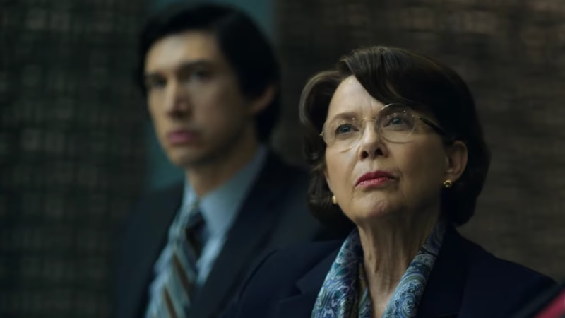 Adam Driver and Annette Bening in The Report