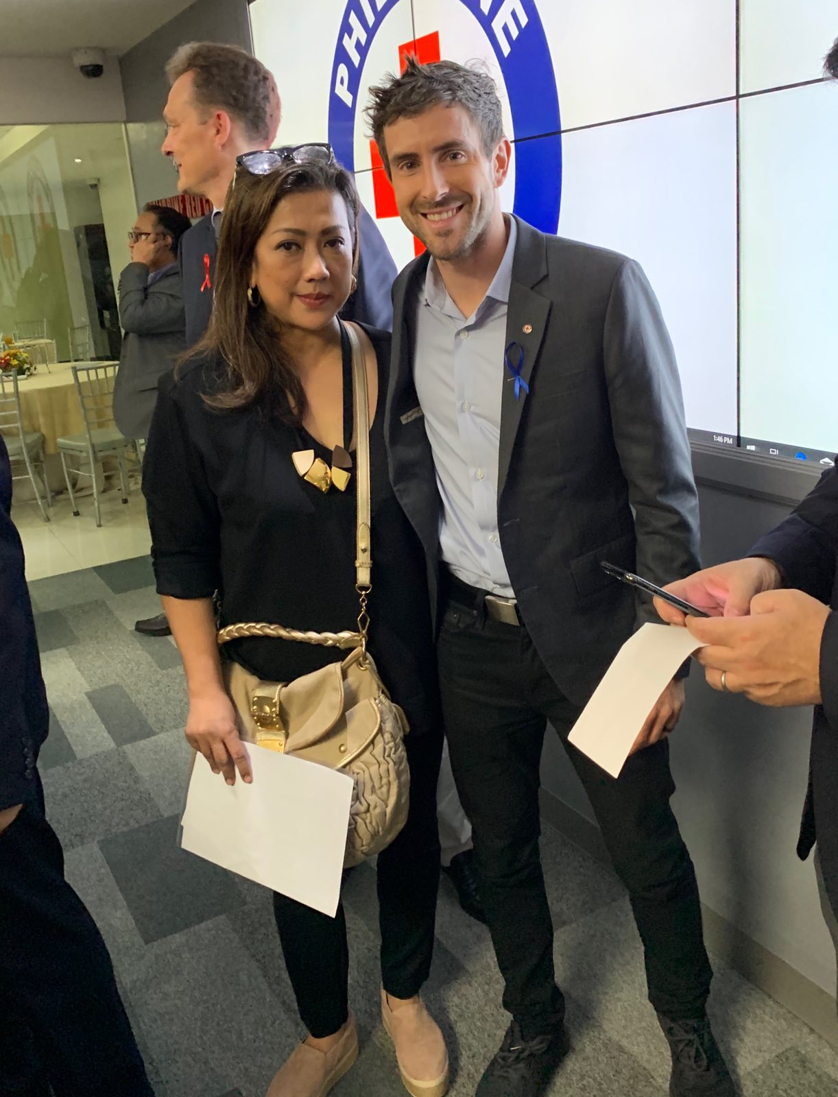 Metro head Christina N. Lopez with Zipline co-founder and CEO Keller Rinaudo