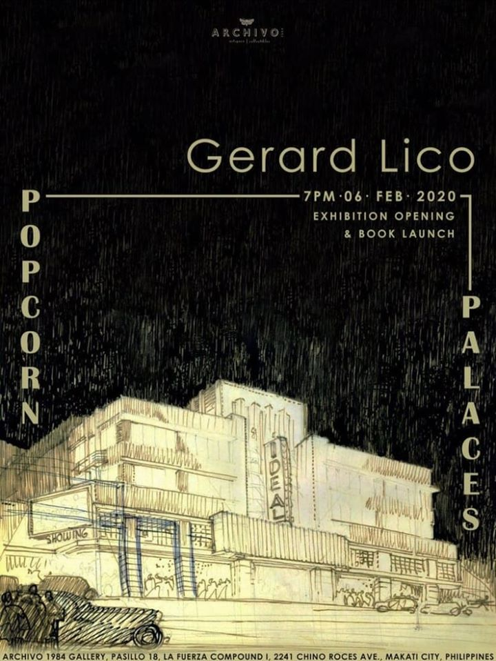 Popcorn Palaces, an exhibition by Architect Gerard Lico will be held in Archivo 1984 on February 6, 2020, 7 pm.