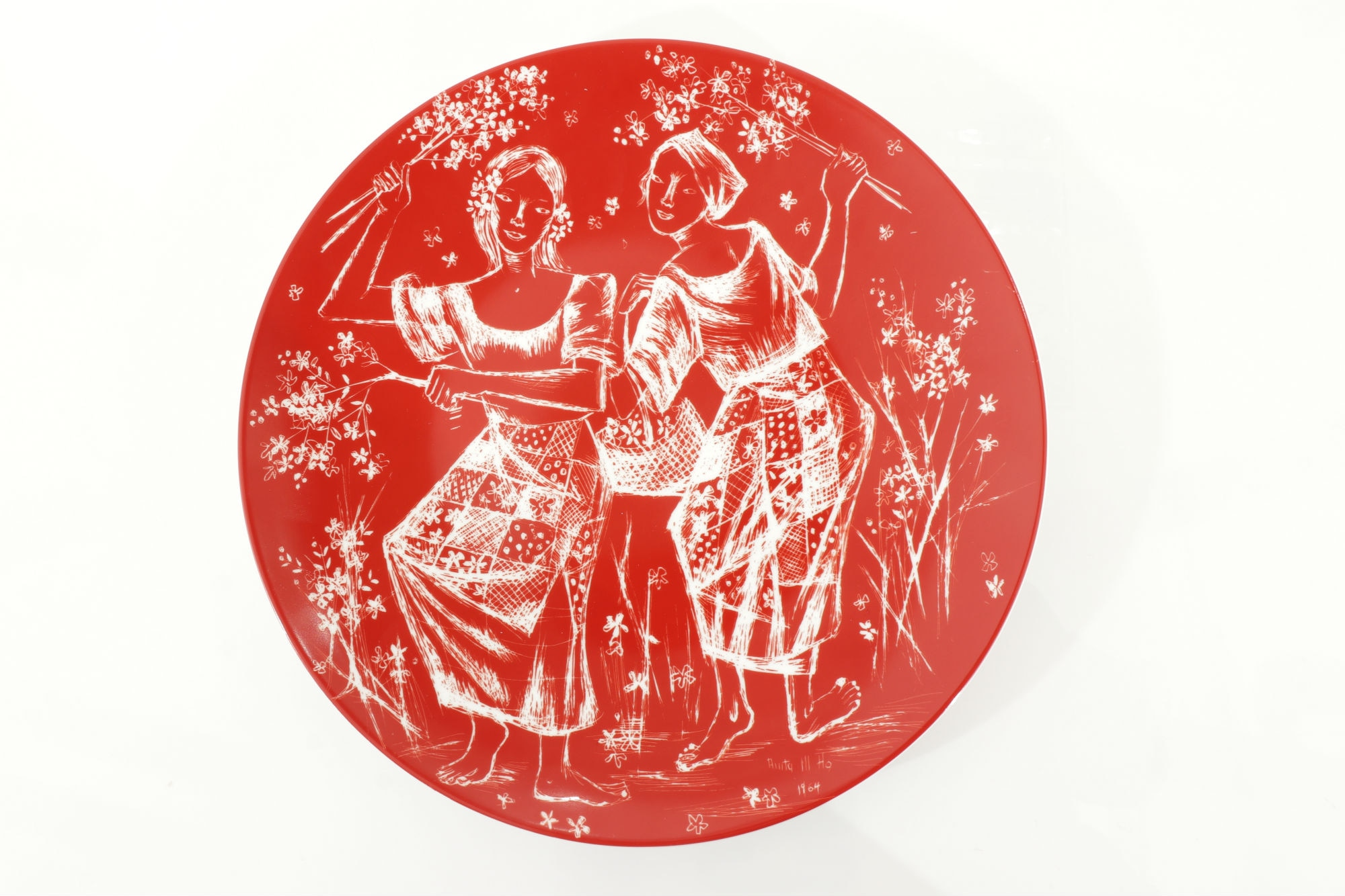 Anita Magsaysay-Ho's Kakawati Dance is adapted by Rustan's on a Bernardaud plate
