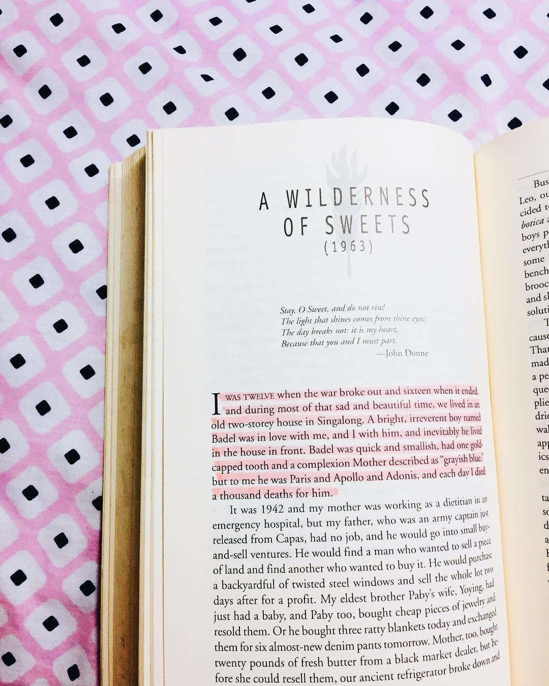 "Gilda Cordero Fernando's ""A Wilderness of Sweets,"" which appears in The Best Philippine Short Stories of the Twentieth Century"