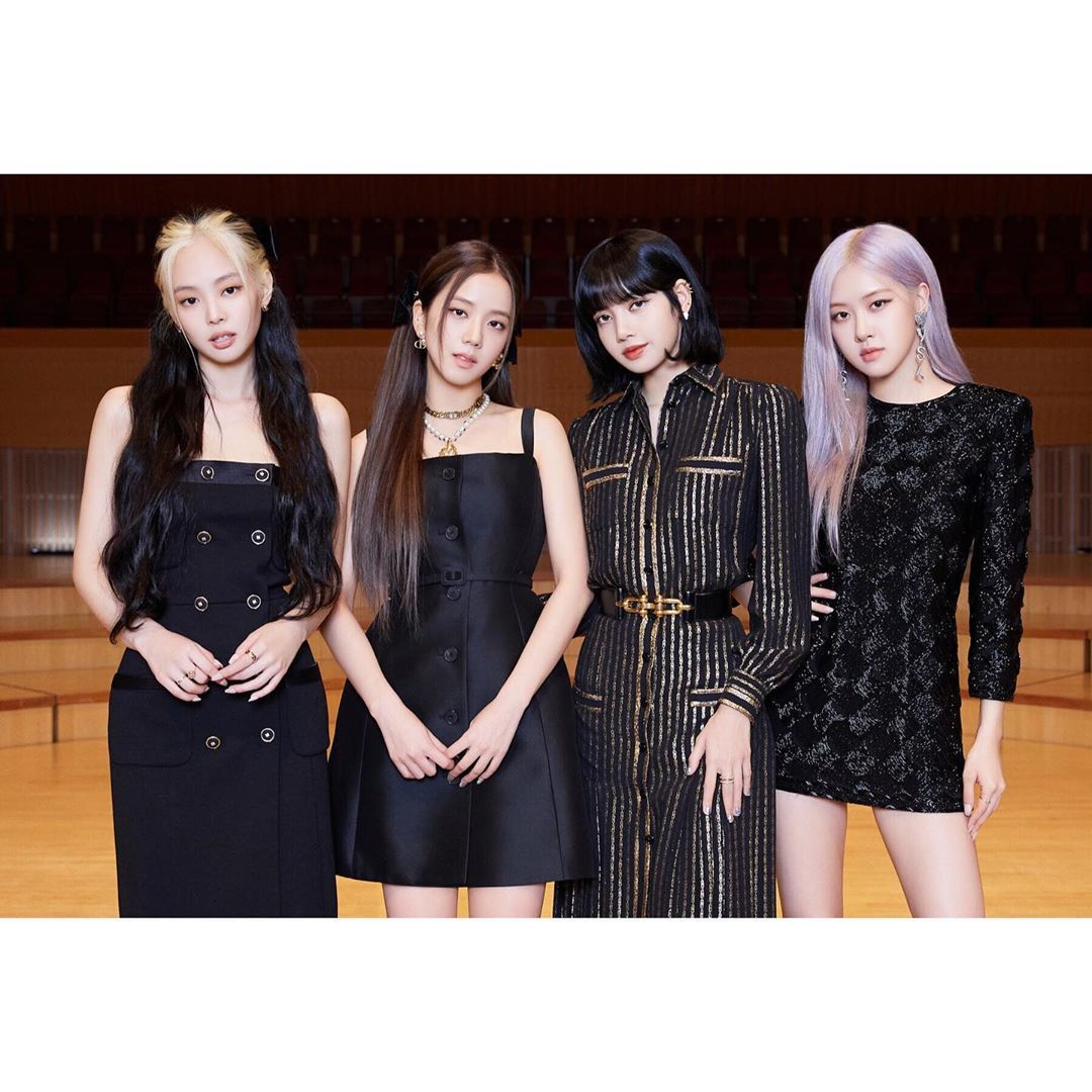 Jennie, Jisoo, Lisa, and Rose ready for the pre-release drop