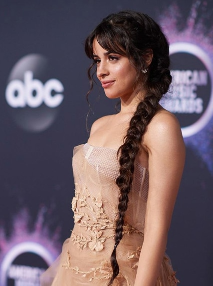 Camila Cabello looks lovely in her stunning long braids at the AMAs.