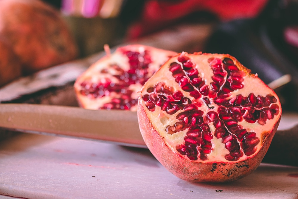 It's infused with real pomegranate seeds!