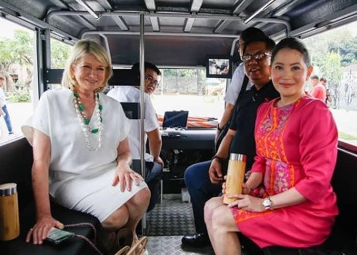 Martha Stewart visits Manila, visits landmarks, meets prominent personalities