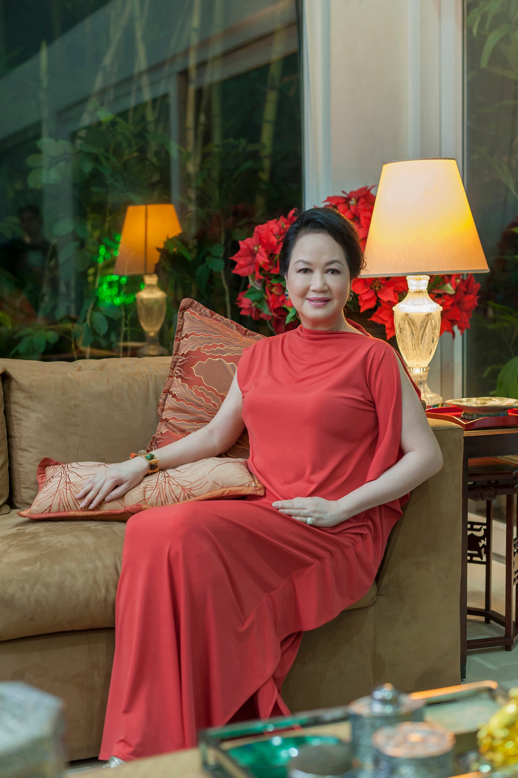 Frannie Aguinaldo-Jacinto is happy to have family heirlooms in their Christmas set ups. The porcelain was handpicked by her father, while many ornaments were also passed on by her mother.