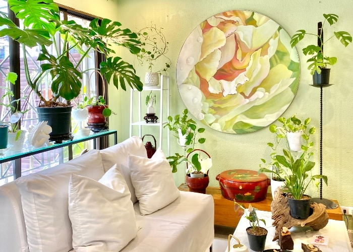 A look at Janice Yong's home art and plant collection