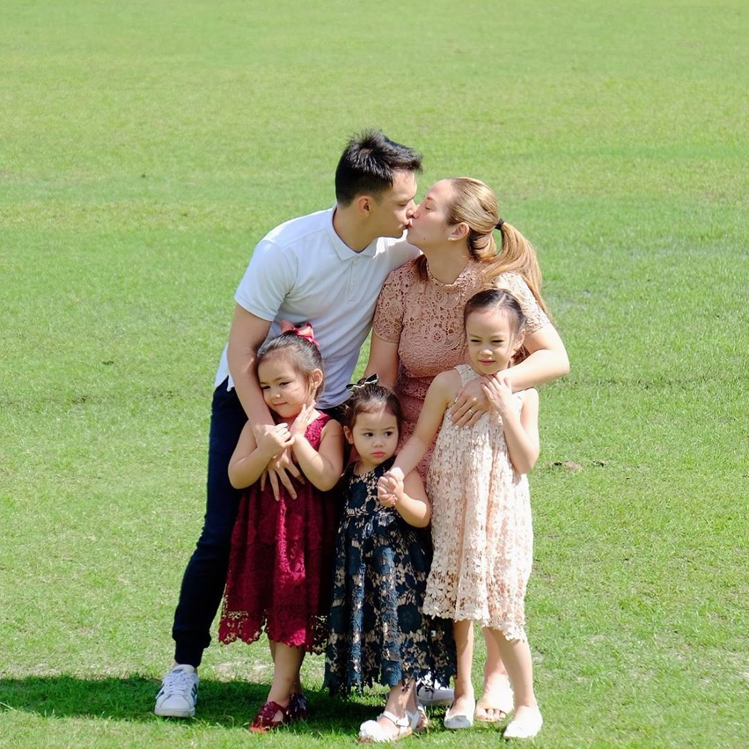 Nikka and Patrick Garcia with kids Michelle, Patrice, and Pia