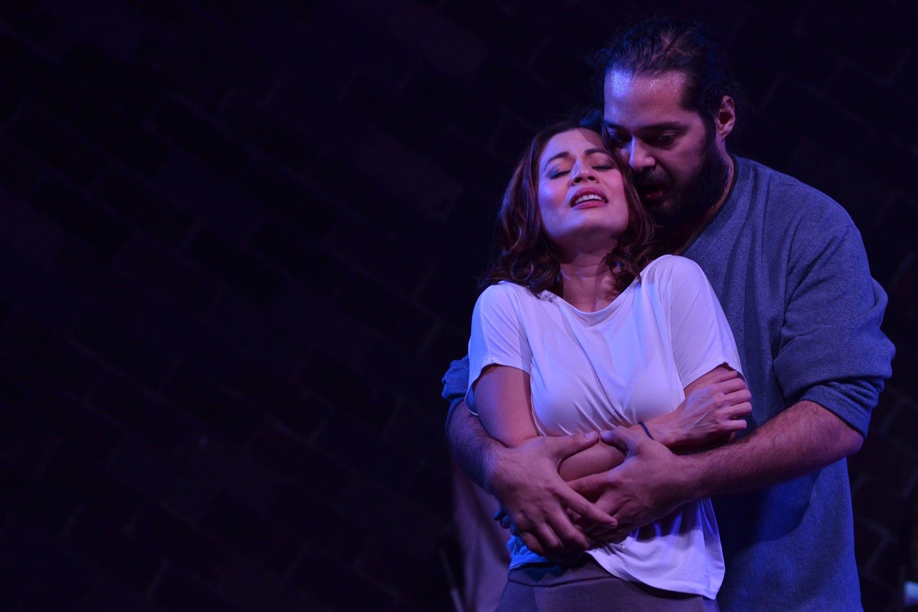 Missy Maramara and Tarek El Tayech in Stage Kiss