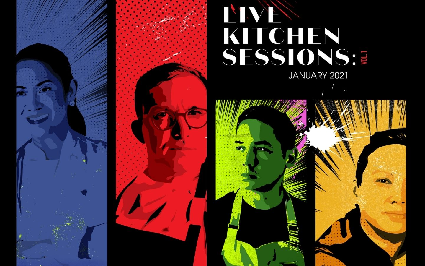 5 Chefs, 4 Sessions