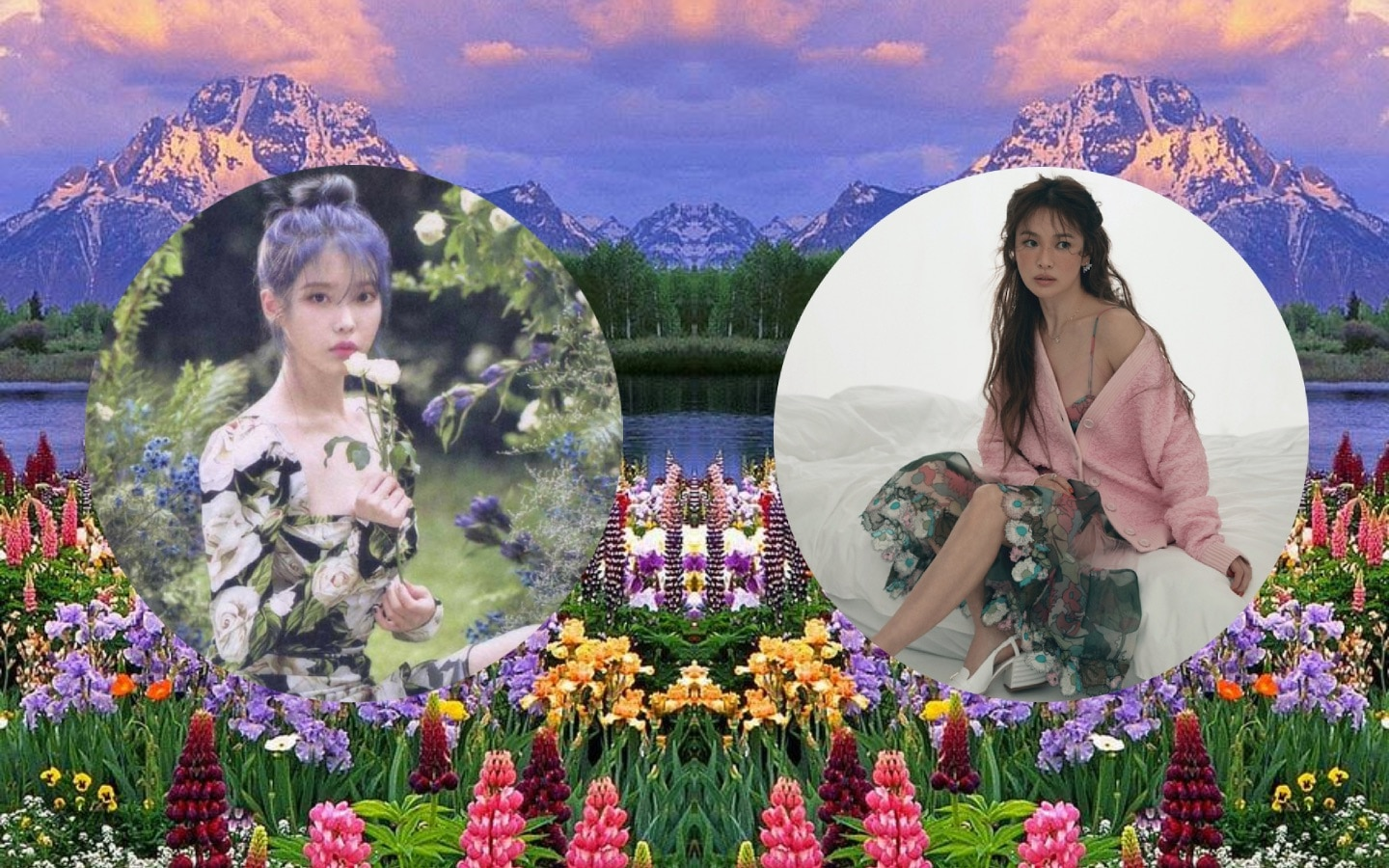 K-Actresses In Floral Dresses