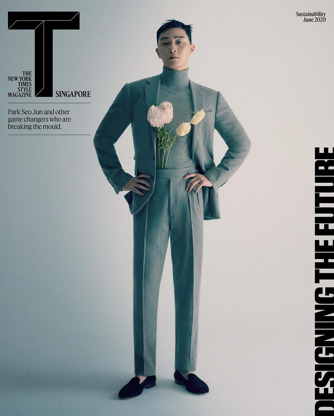 Park Seo-Joon on the cover of T Singapore