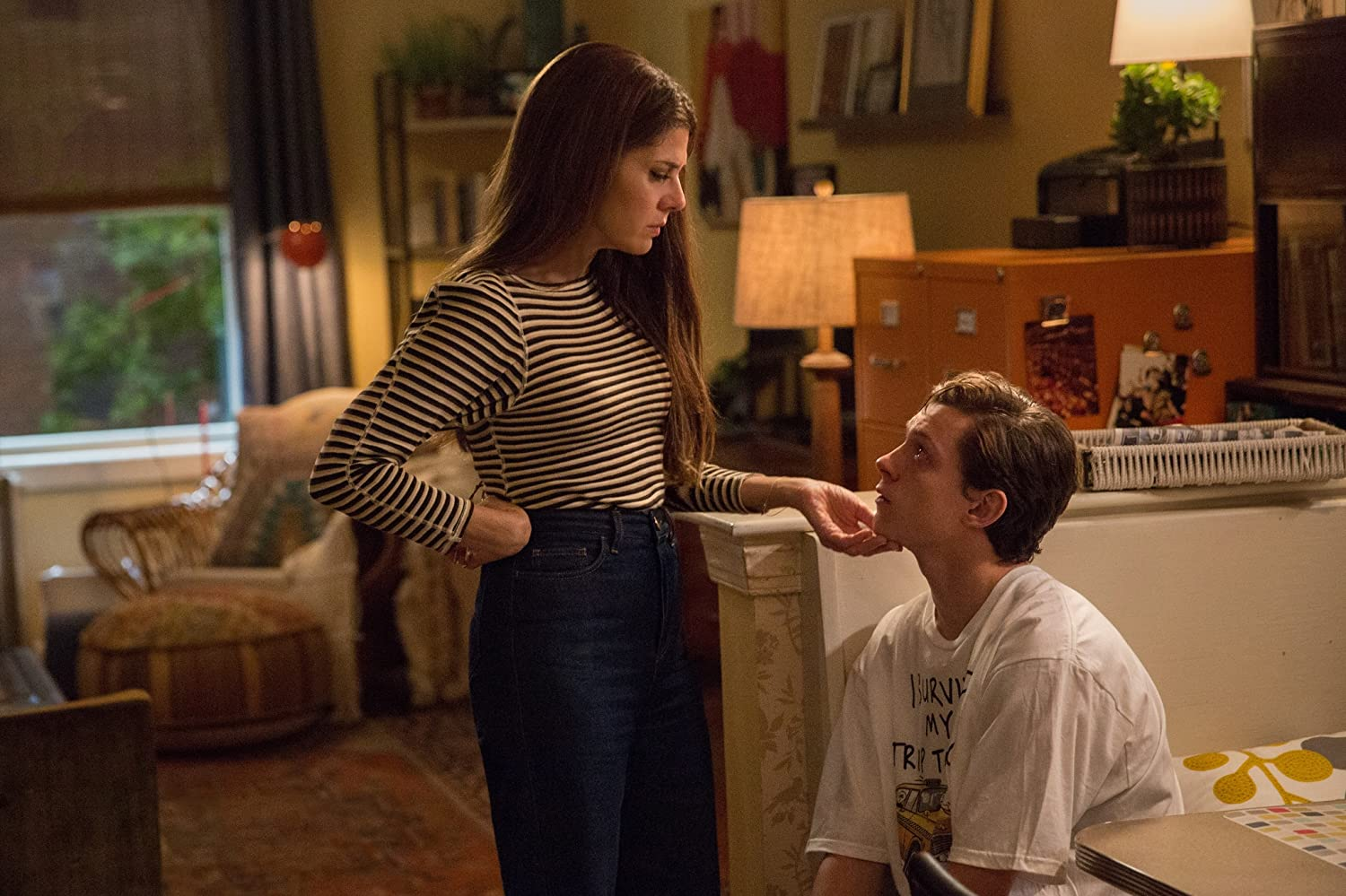 Marisa Tomei and Tom Holland in 'Spider-Man: Homecoming'