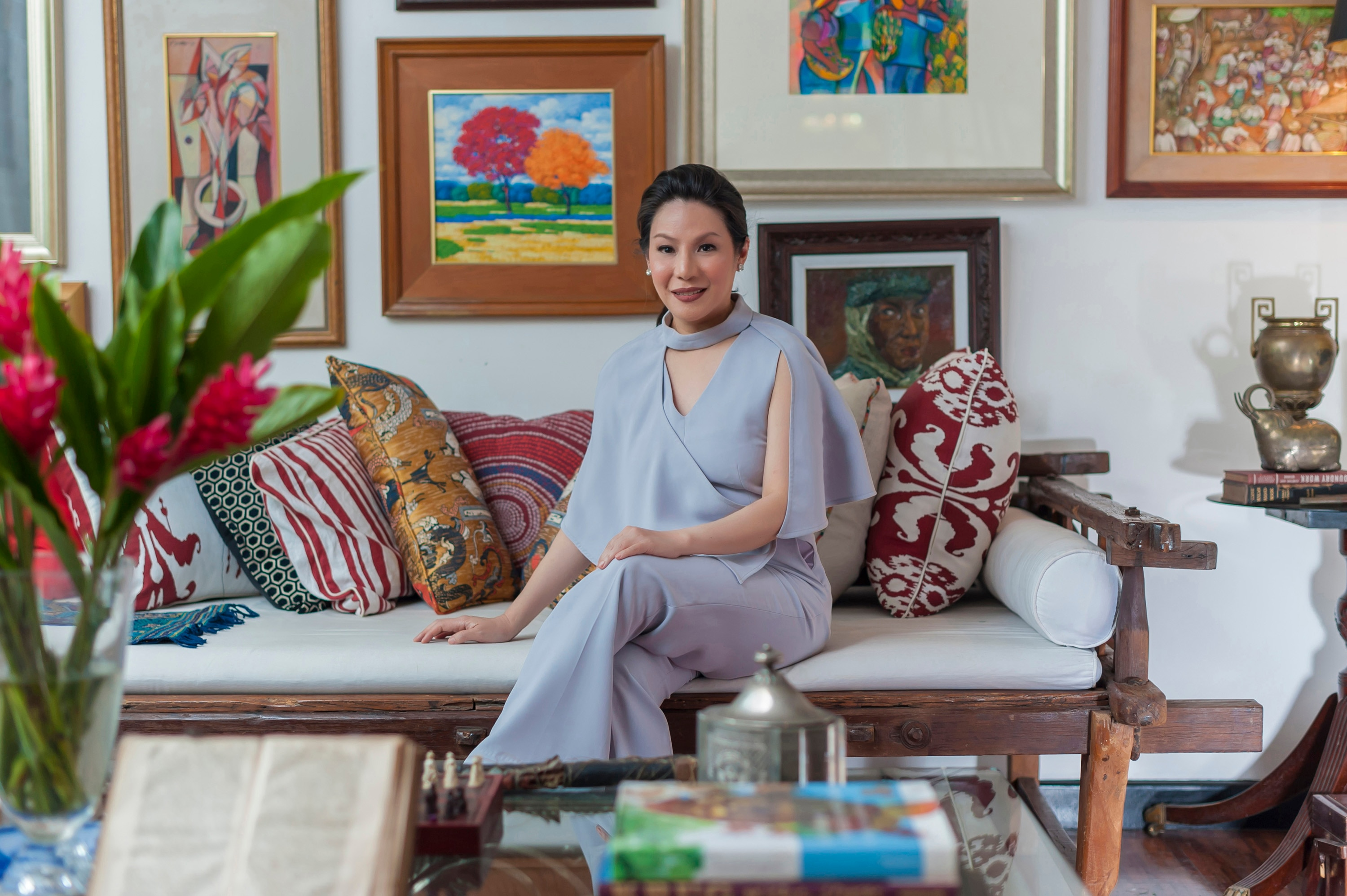 """As a child, Ana De Ocampo would marvel at her grandmother's table. """"She loves to eat and I think I got my sweet tooth from her."""" These days, De Ocampo is happy to hosts Christmas dinners known for excellent food, thanks to her grandmother's influence during her formative years."""