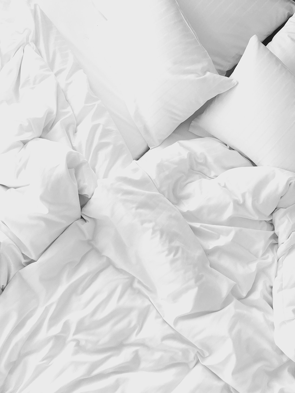 Invest in proper pillows, beddings, and sheets.