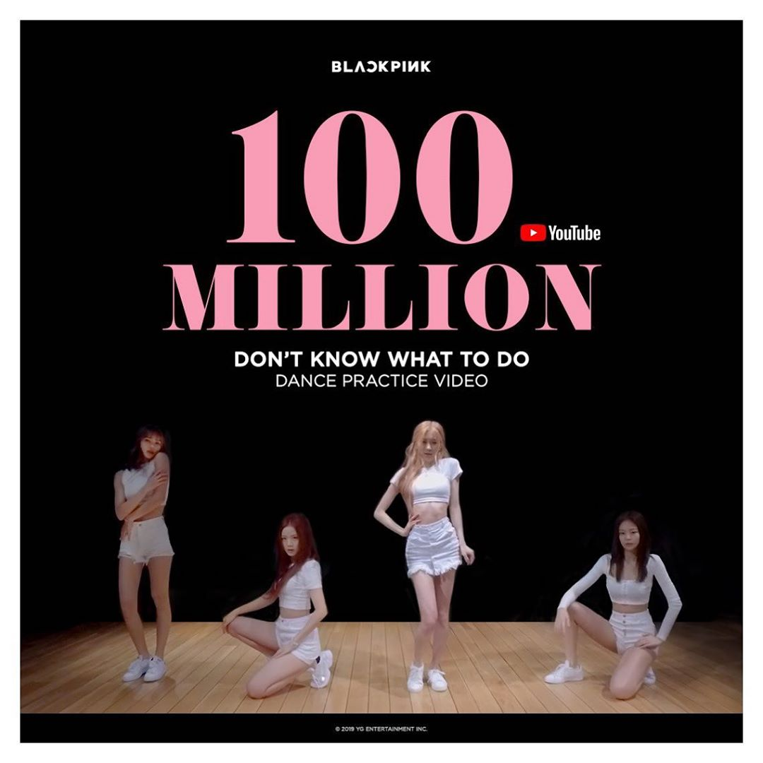 Even dance practice videos like this one of BLACKPINK hit hundreds of millions of Youtube views!