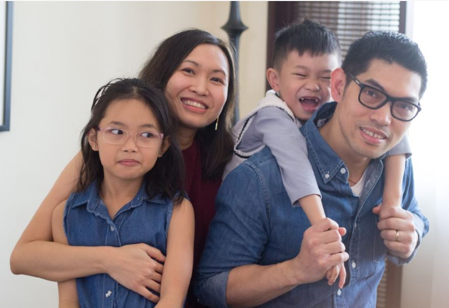 Janice Lao and Her Family