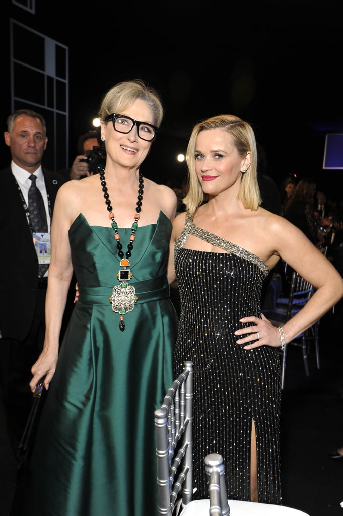 Meryl Streep and Reese Witherspoon at the 2020 SAG Awards