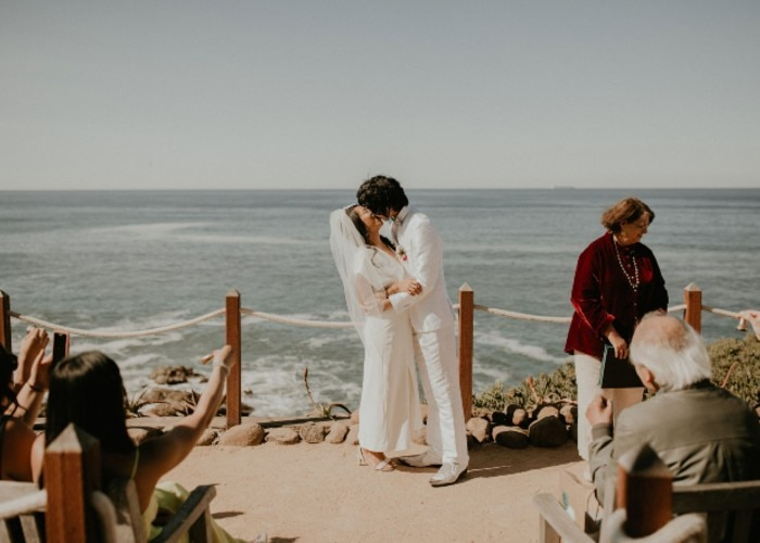 Nica Constante and Hiro Tanaka get married in a San Francisco Bay Area in an intimate ceremony with personal elements