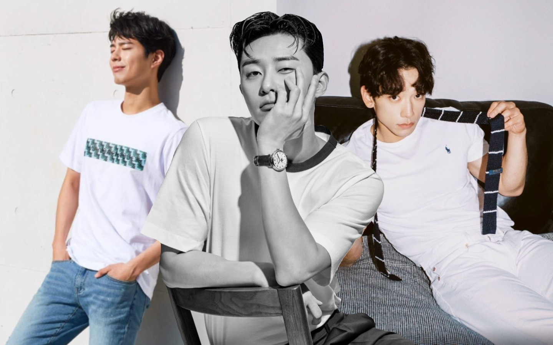 Korean Actors In Basic White Shirts